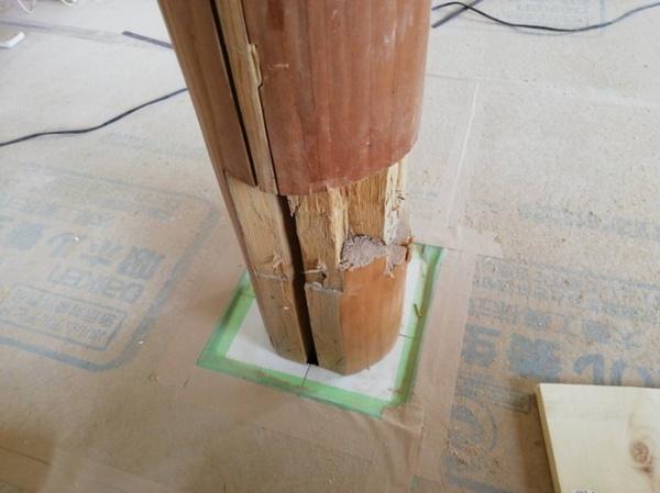熊本県人吉市での床柱補修サムネイル